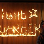 Signs on fire
