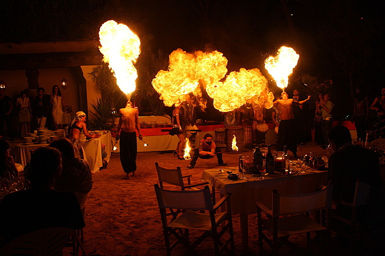 Fire dancing by Energy Entertainments.
