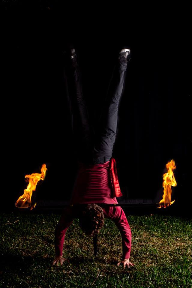 Fire handstand