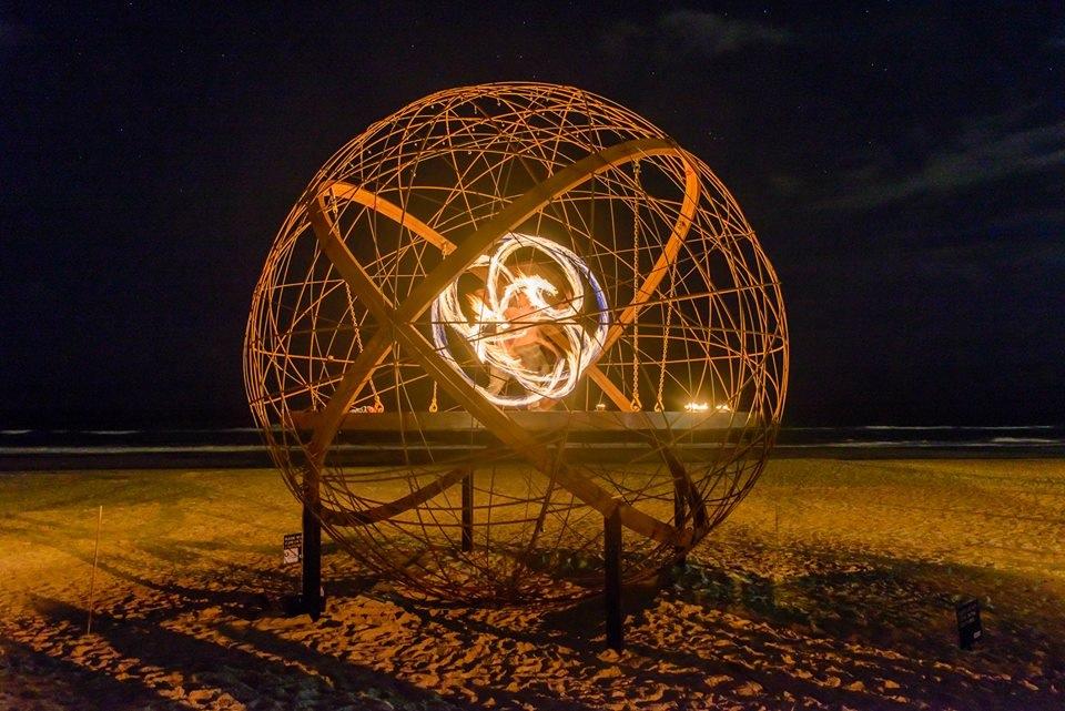 sea ball on fire