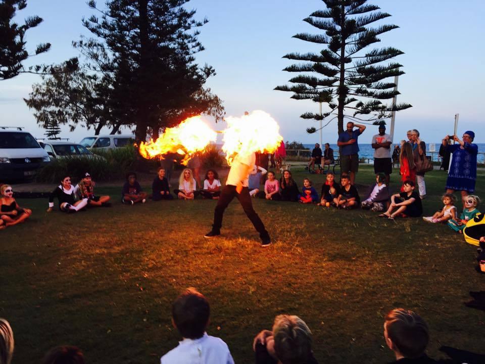 Fire show burn off Tugun QLD