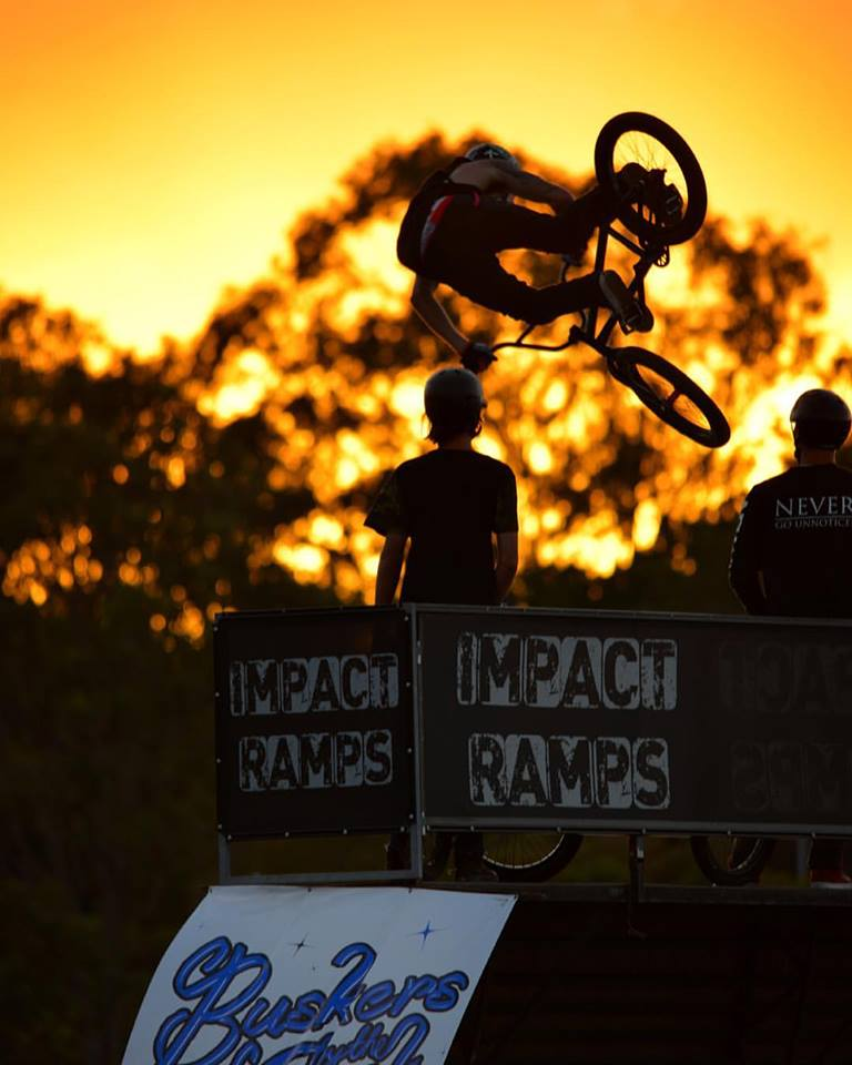 Sunset impact ramps