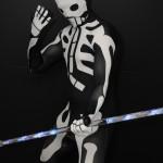 glow show skeliton costume