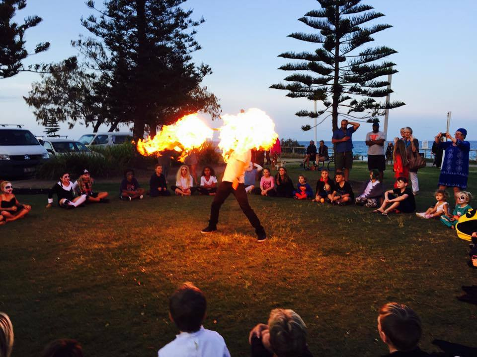 Fire show burn off Tugun QLD