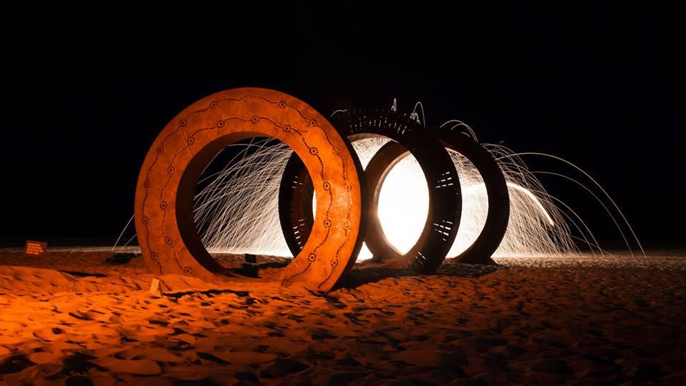 Fire sculpture photography