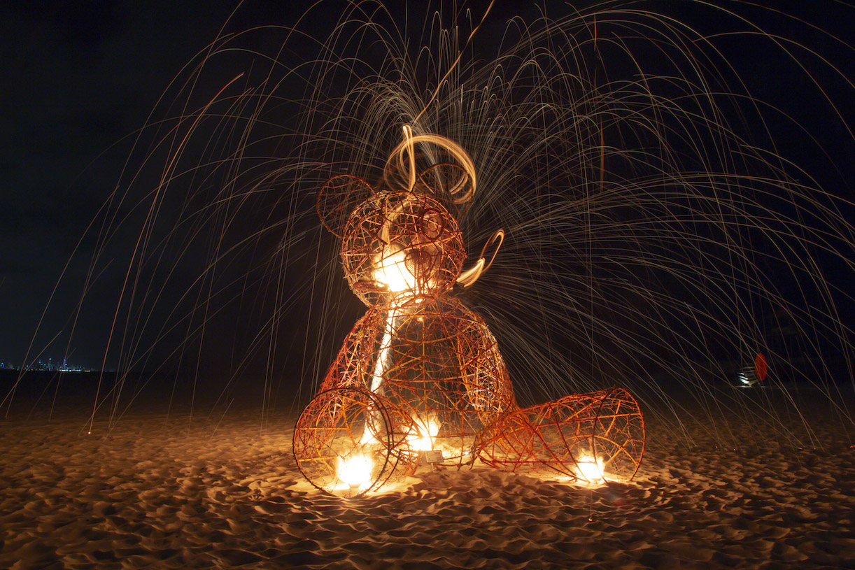 steel wool teddy bear